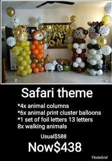 Safari theme balloon decoration