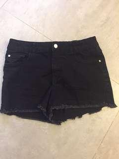 Black Denim Shorts - Girls size 14