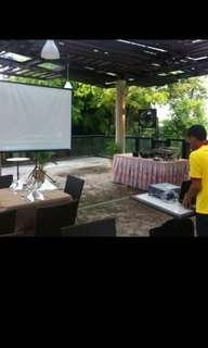 Large projector screen - rental