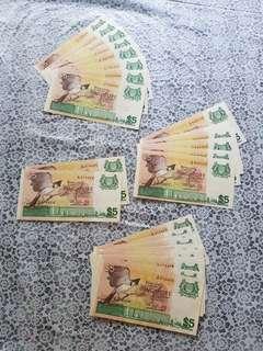 Singapore $5 bird note