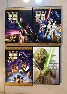 🚚 星際大戰正版DVD1-6全