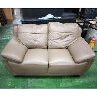 東鼎二手家具 東尼牛皮雙人沙發*舒適好坐*牛皮沙發*二人沙發*皮沙發椅*客廳沙發*套房沙發*洽談沙發*辦公沙發