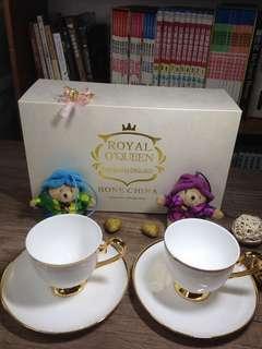 🚚 茶饗宴 皇家禮盒骨瓷組 咖啡杯盤組 Royal Duke 英式皇家最高級骨瓷咖啡杯盤組