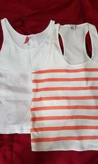 Take all! F21 and H&M sleeveless top