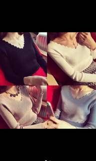 🚚 💕💕韓式風格--氣質修身針織上衣💕💕