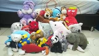 Large Set of Soft Toys All for RM50