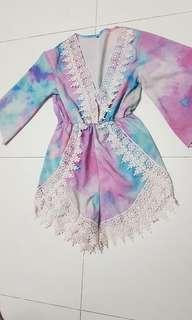 Watercolour romper perfect for beach or vacation