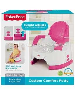 Ready Stock ! Brand New Fisher Price Custom Comfort Potty Training Seat Pink *Best for Baby Girl Birthday Newborn Shower Gift Set*