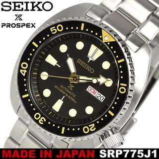 """*Made In Japan* Seiko PROSPEX """"Turtle"""" Classic 200m Diver's Watch SRP775J SRP775 SRP775J1"""