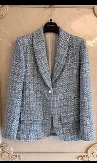 NA CHANEL 19C BLUE TWEED JACKET CRUISE COLLECTION