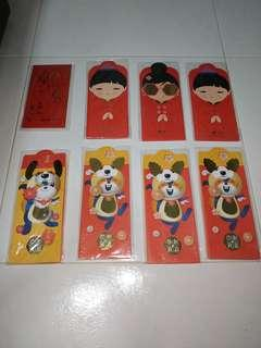 8 x brand new and unused ang pao red packets with free normal postage