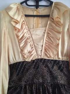 Dress batik satin