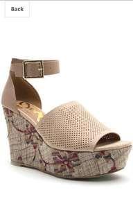Qupid Wedge Sandals