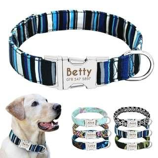 🆒🆕 Dog Collar Nylon Personalized Custom Dog ID Tag Collar Engraved Nameplate Pet Cat Collar Antilost for Small Medium Large Dogs