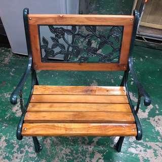 東鼎二手家具 全新品 玫瑰單人公園椅*戶外椅*庭院椅*休閒椅*後院椅*長條椅*鐵椅*餐椅*B360-12*另有其他尺寸