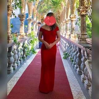 Formal long red dress