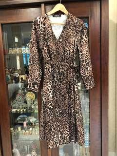 Cheetah slit dress