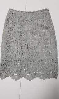 BN grey lace skirt