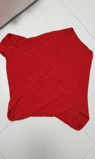 BN red knit outwear