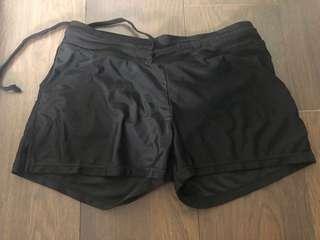 Ladies black Swimming shorts (uk8-10)