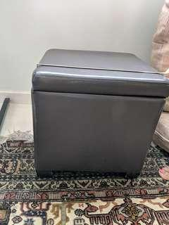 Mini square stool with storage space