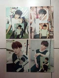 EXO Love Me Right era Official Postcard & Photocard set