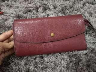 Wallet Fossil Maroon Good Condition