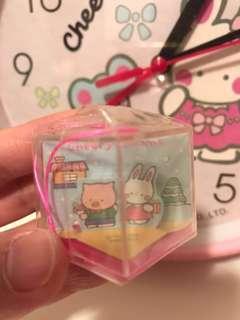 《包郵》Cheery chums 罕有1988年 聖誕版雙面屋仔盒 吊飾