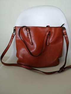 Brown Sling Handbag