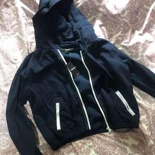 F21 navy blue hoodie