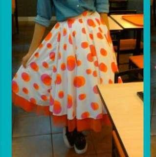 For rent - Polka dot skirt for performances and parties