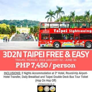 3D2N Taipei Free and Easy