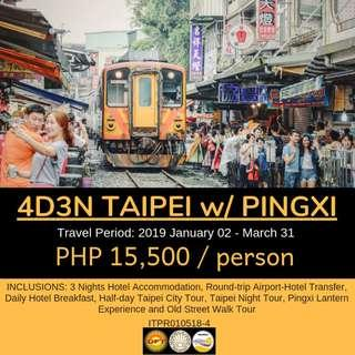 4D3N Taipei with Pingxi