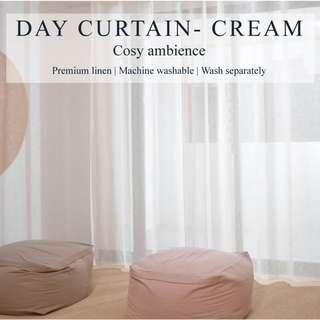 Set of 2pcs Day Curtain - Cream