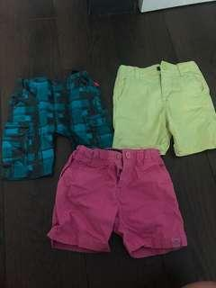3 pairs of boys shorts(3 yrs old) for sale