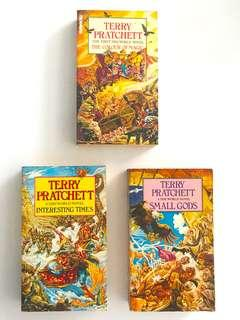 Terry Pratchett - The Colour of Magic, Small Gods, Interesting Times