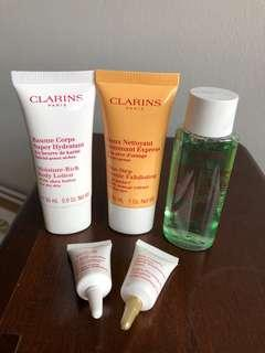 Clarins skin care sample for face