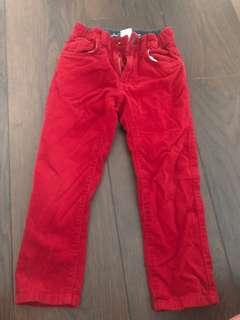 Boys red corduroy pants for sale