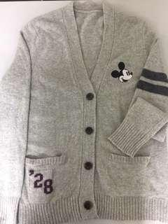 free mickey mouse cardigan