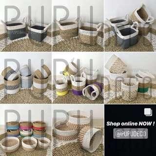 mini baskets by PUPUdeco