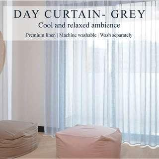 Set of 2pcs Day Curtain - Grey