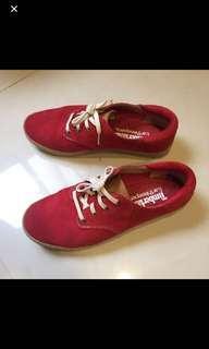 Timberland 紅色 麂皮