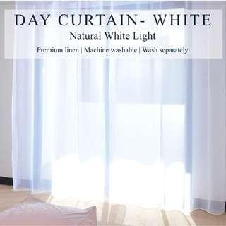 Set of 2pcs Day Curtain - White