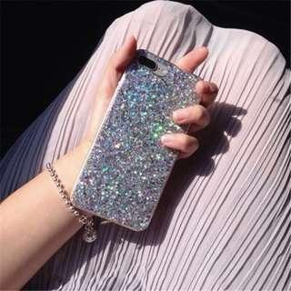 iPhone 7/8 Plus Silver Glitter Bling Casing
