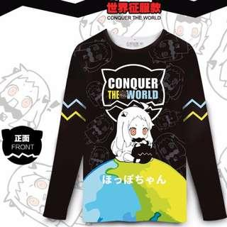 🉐 Hoppo-chan CONQUER THE WORLD Long-Sleeved T-Shirt (KanColle)