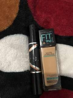 maybelline fitme foundation shade 220, maybelline highlighter & contour