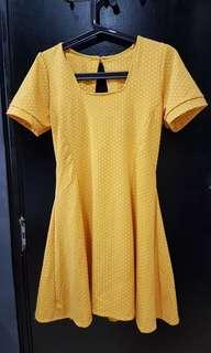 Vintage yellow polka dot dress