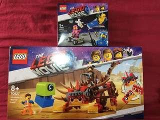 Lego Movie 2 70827 Ultrakatty Warrior Lucy & 70841 Benny SpaceShip Set