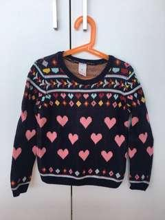 TARGET Heart Knitted Sweater