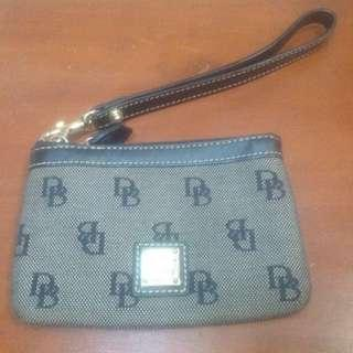 Original Dooney and Bourke Signature Wristlet Pouch